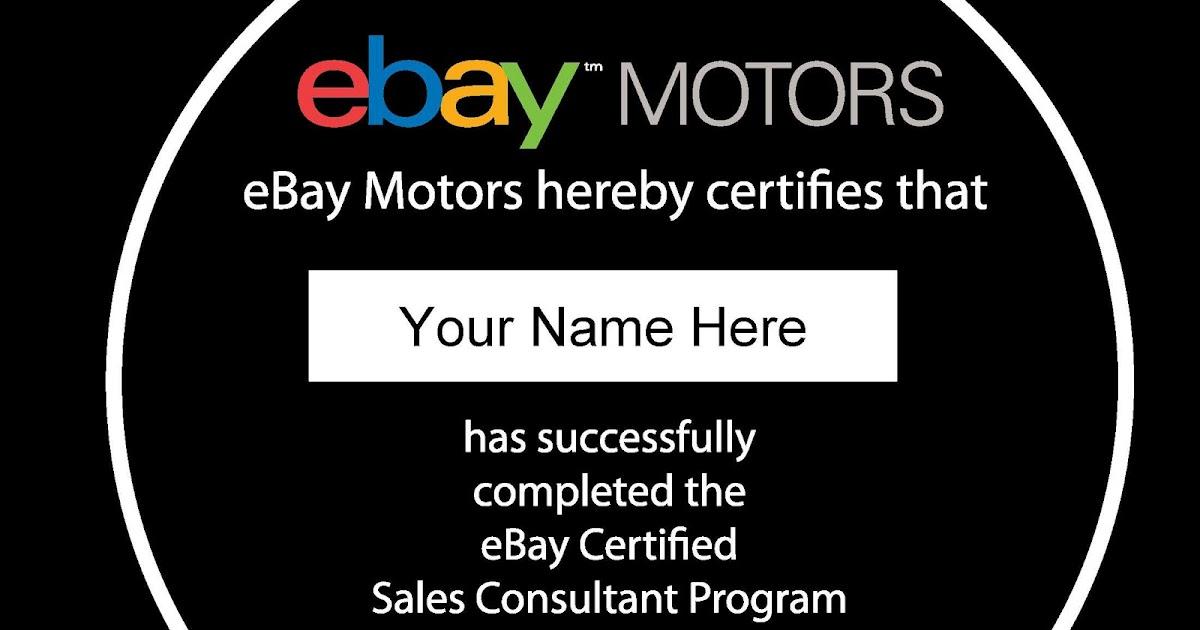 Ebay Motors Sales Best Practices Ebay Motors Online