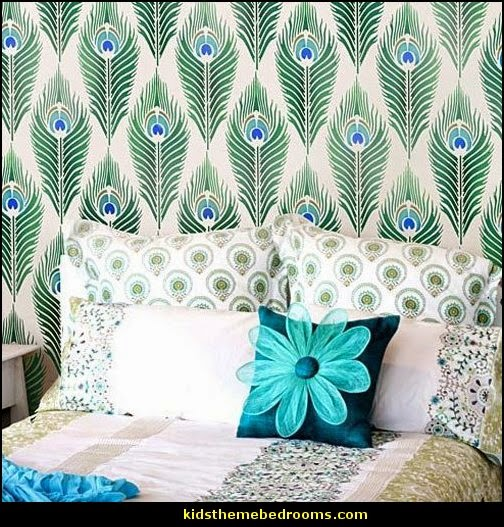 Decorating peacock color decor peacock wallpaper peacock bedding