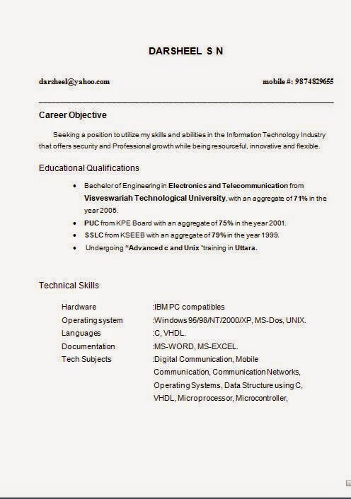 Printable Resume Format Free Free Printable Resume Templates Throughout  Free Printable Resume Templates Microsoft Word  Printable Resume Form