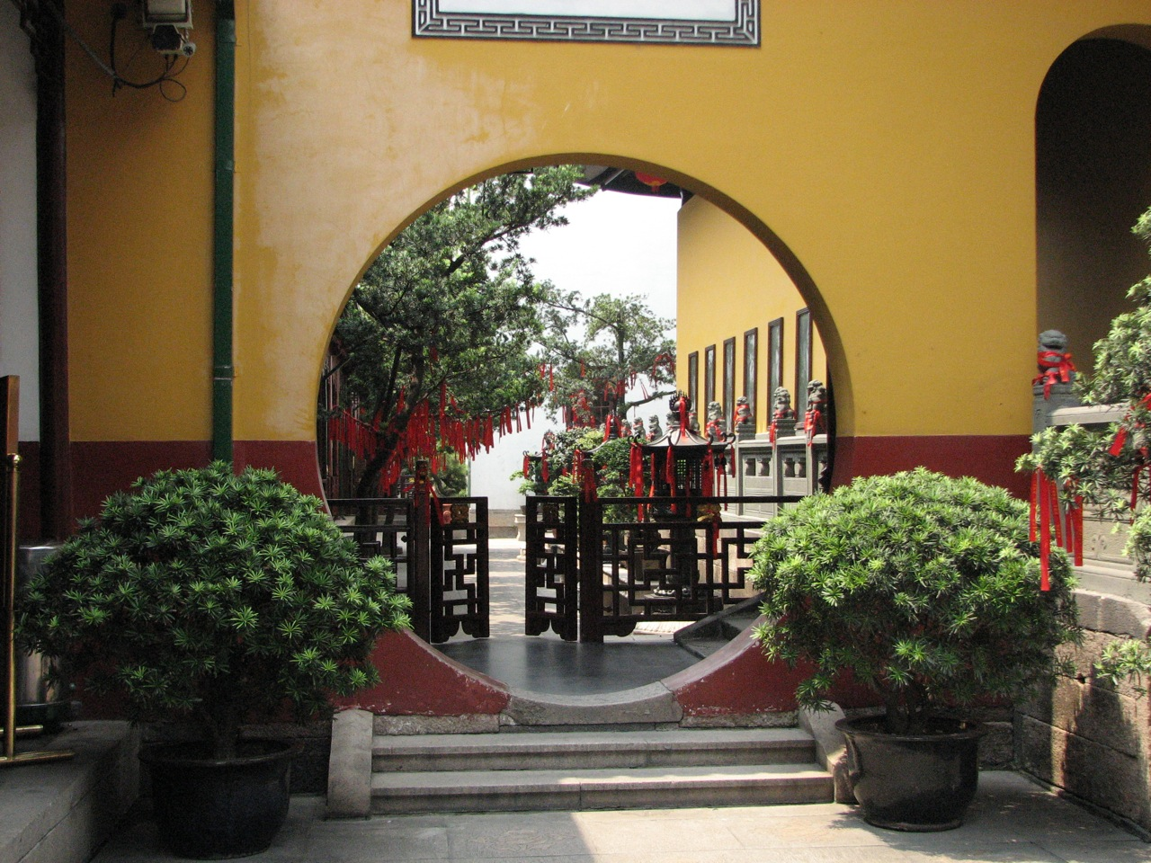 My Zen Garden Fence Extension and Moon Window