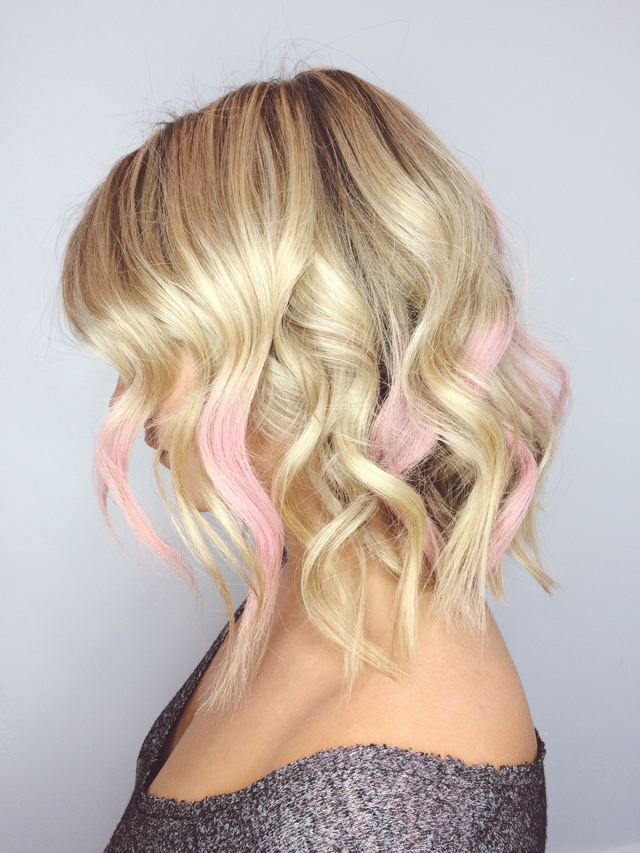 blush hair powder, pink hair, world mastercard fashion week ss16