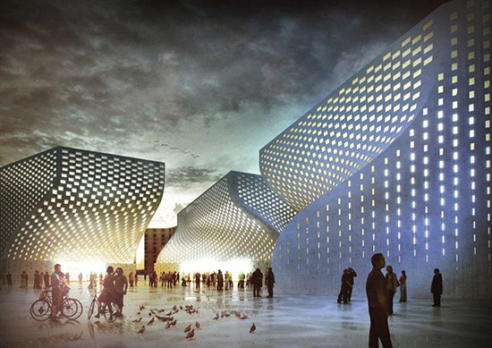 desain masjid modern kontemporer