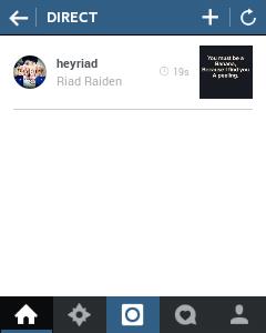 pesan di instagram