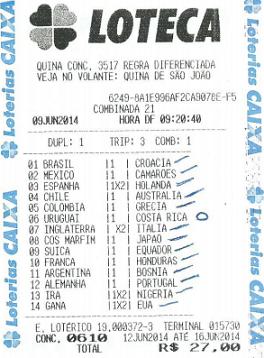 LOTECA 610 - 13 PONTOS DO CRESPO ANDRÉ