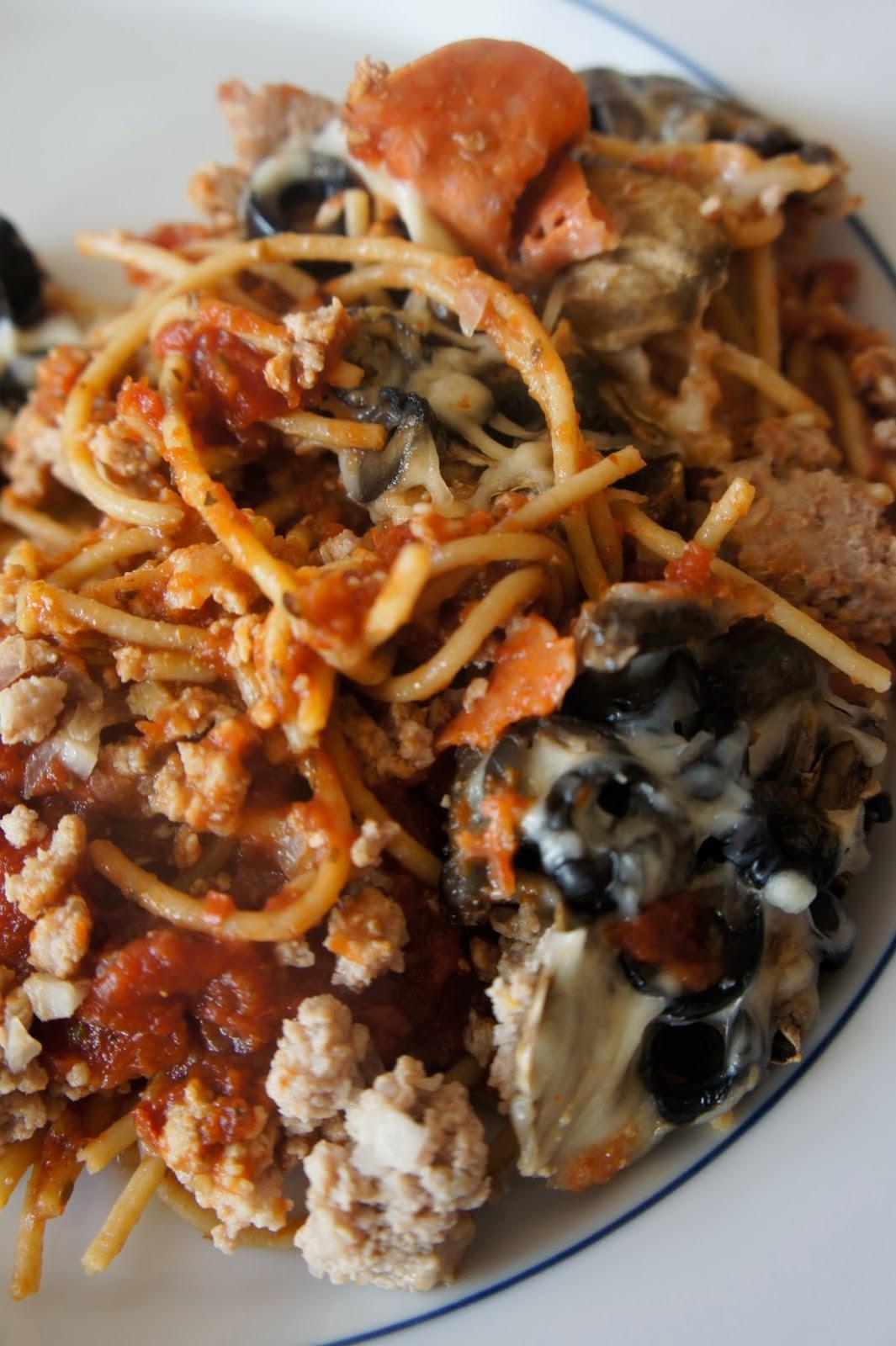 Spaghetti Pizza Bake: Savory Sweet and Satisfying