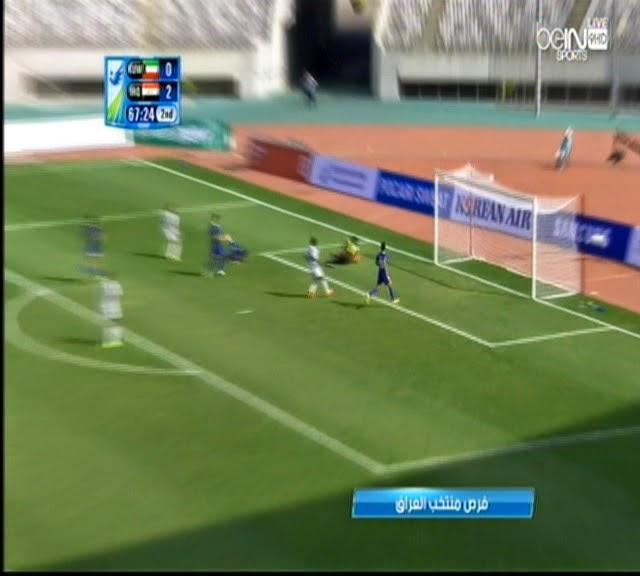 اهداف مباراة العراق والكويت 3:0  دورة الالعاب الاسيوية