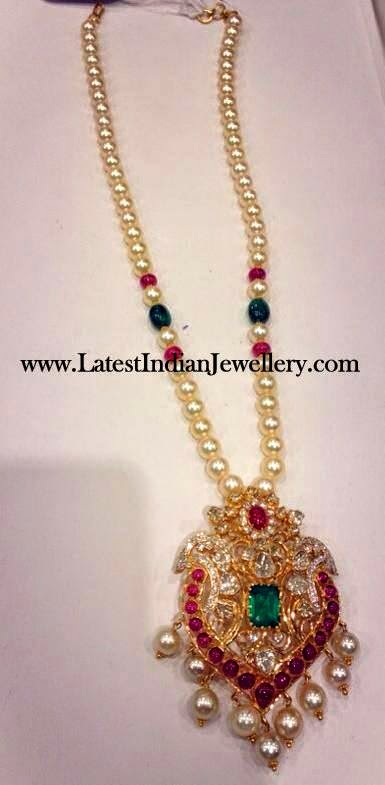 South Sea Pearl Haram Latest Indian Jewellery Designs