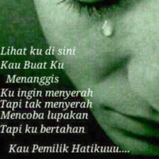 dp bbm menangis