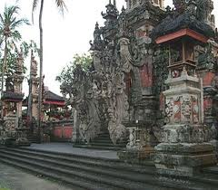 Hindu temple in Bali, Pura in bali, hindu ceremony