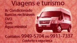 VAN DO JOÃO AUGUSTO - AR CONDICIONADO, BANCO RECLINÁVEL, DVD, SOM E ÁGUA MINERAL
