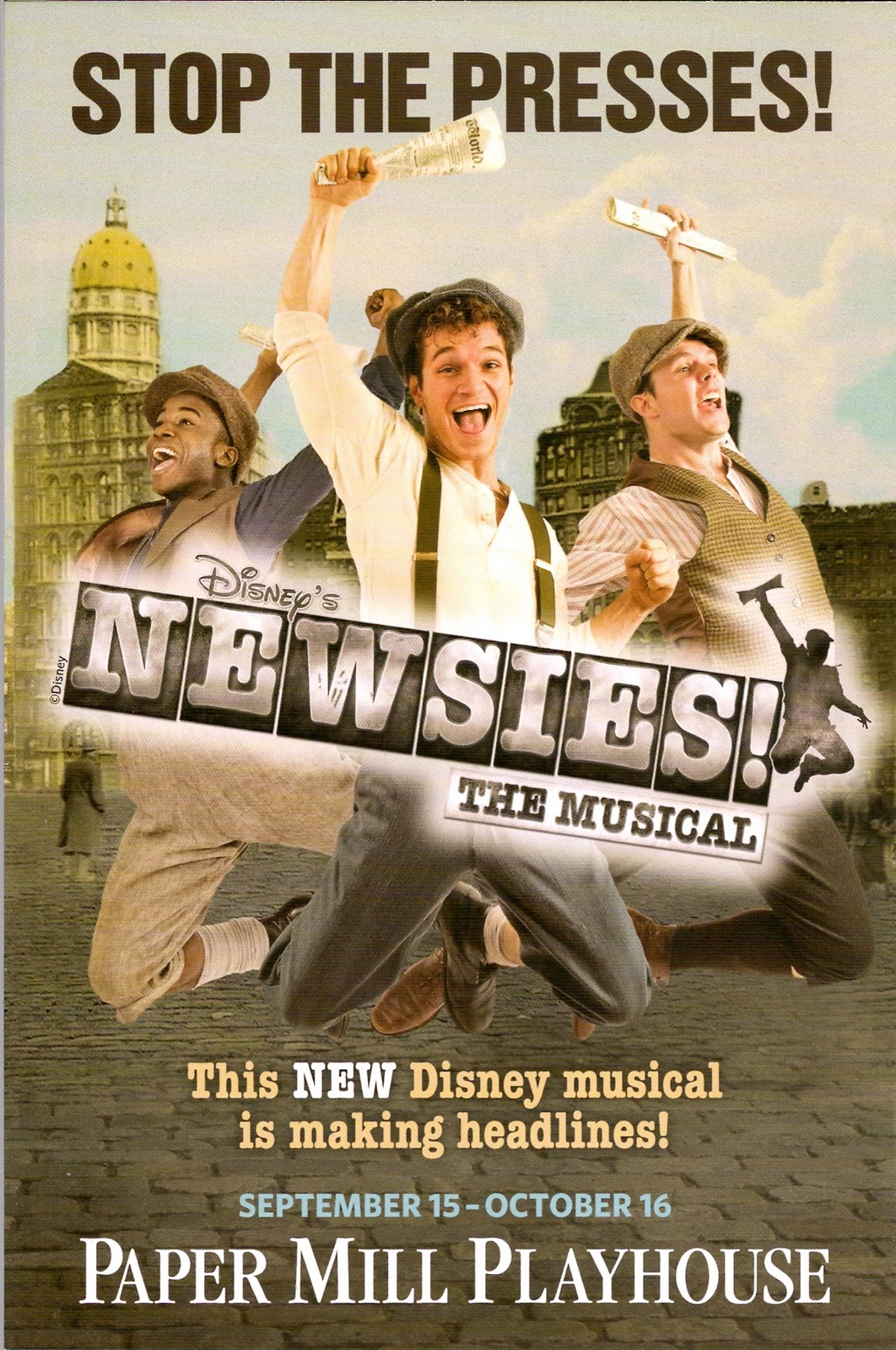 new jersey footlights 2011 stop the presses newsies a smash hit at the paper mill