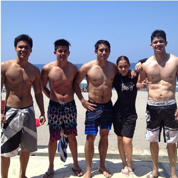 Gerald and Maja in La Union with friends Rayver, Fred and Jason