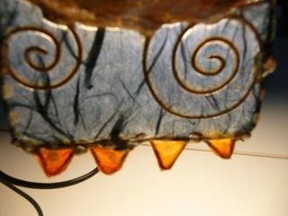 gioiello, ciondolo, pezzo unico, carta giapponese, filo, design, materiali di recupero
