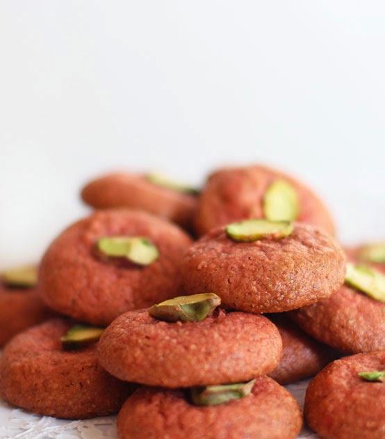 Rosewater & Pistachio Cookies