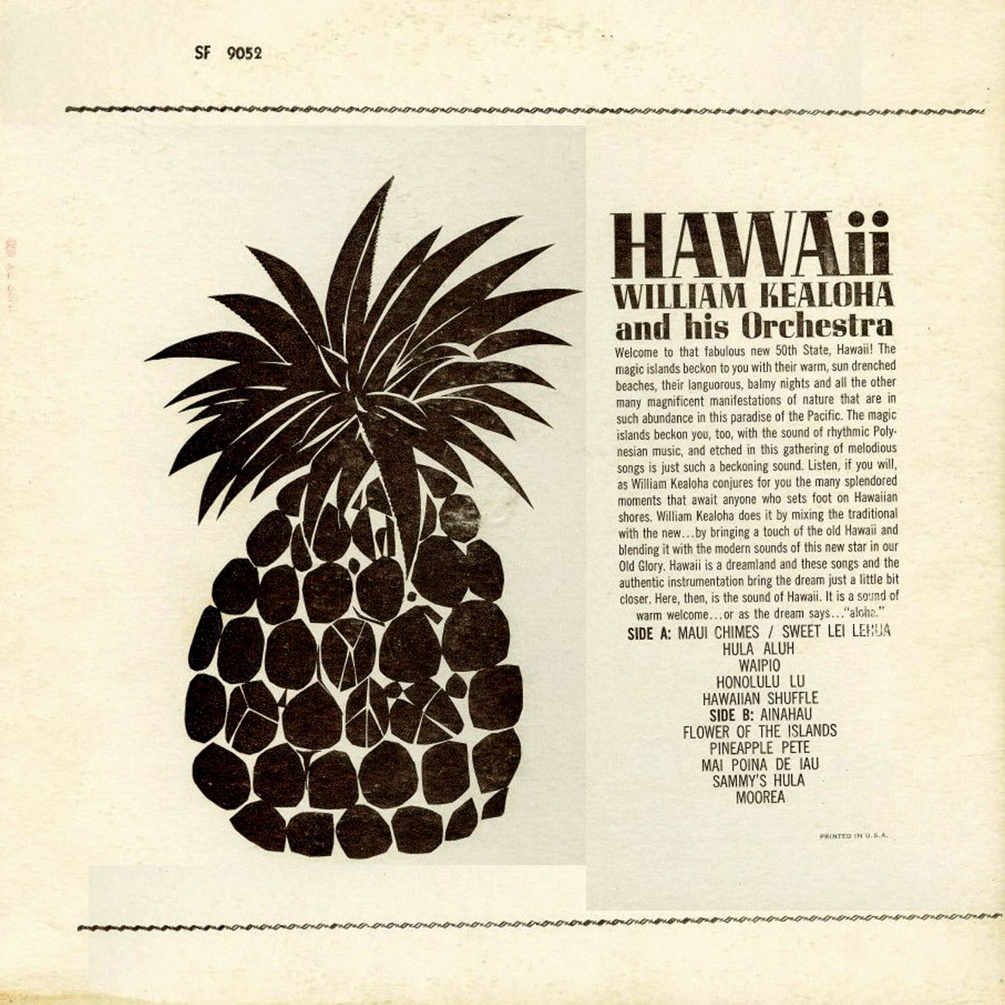 William Kealoha And His Orchestra - The Voice of Hawaii