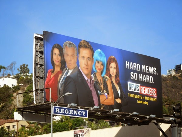 Newsreaders season 2 Hard news billboard
