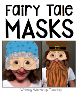 Fairy Tale printable masks and readers theater, along with no prep printables for lots of different tales