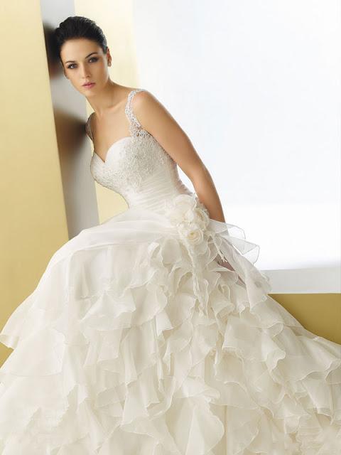 Ruffle Style Wedding Dress