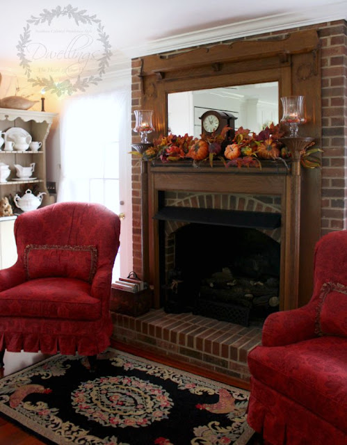 Fall candles in the keeping room