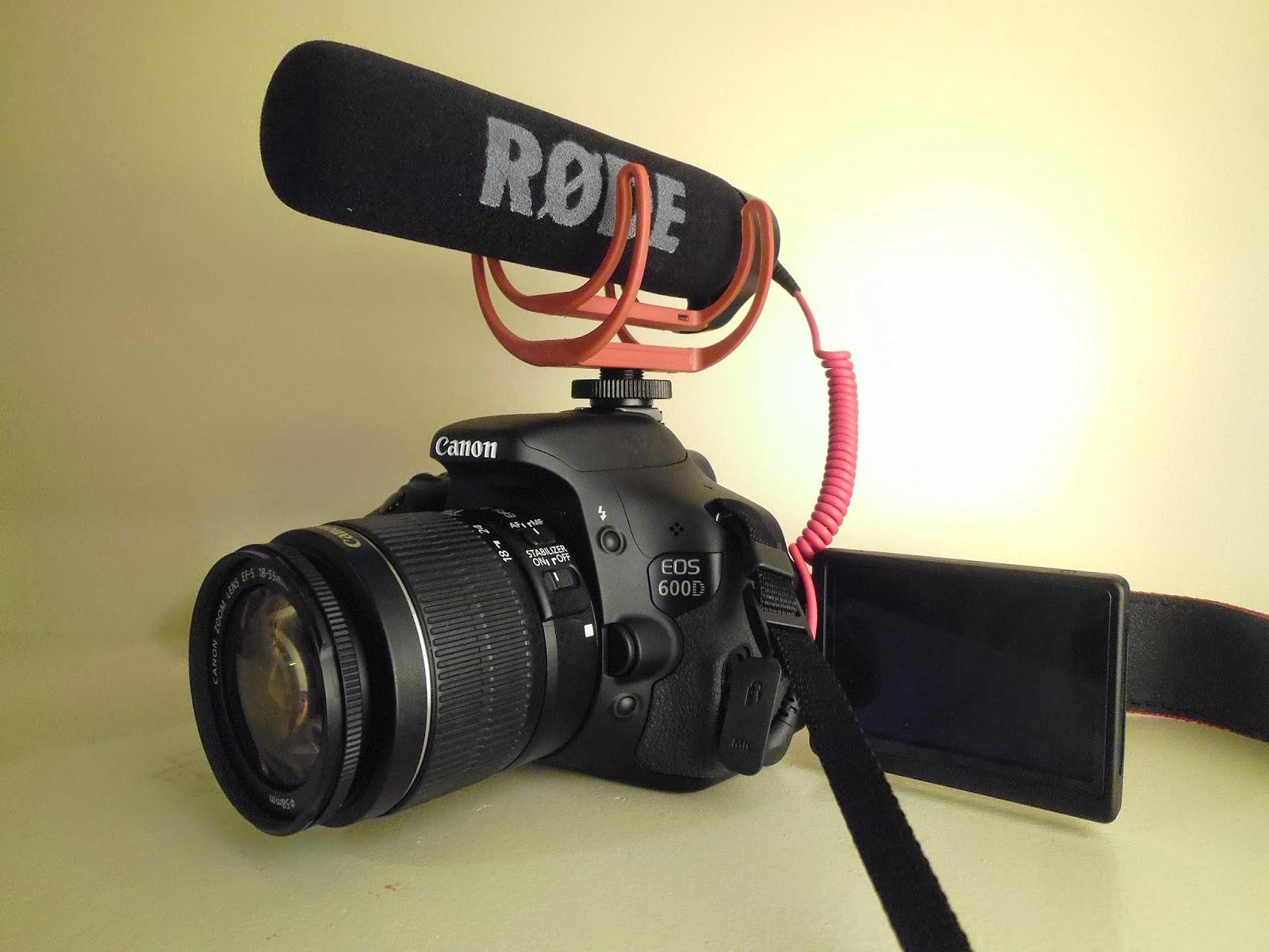 Kiwse: My Filming Setup   Canon 600D/ T3i + Rode VideoMic GO