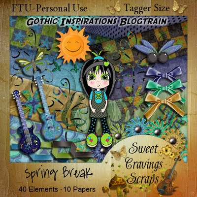 "Scrapbook Freebie Gothic inspiration ""Spring Break!"" by sweetcravingsscraps"