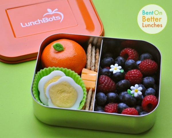 Blossoms &amp; Berries LunchBot Duo Bento for Mum
