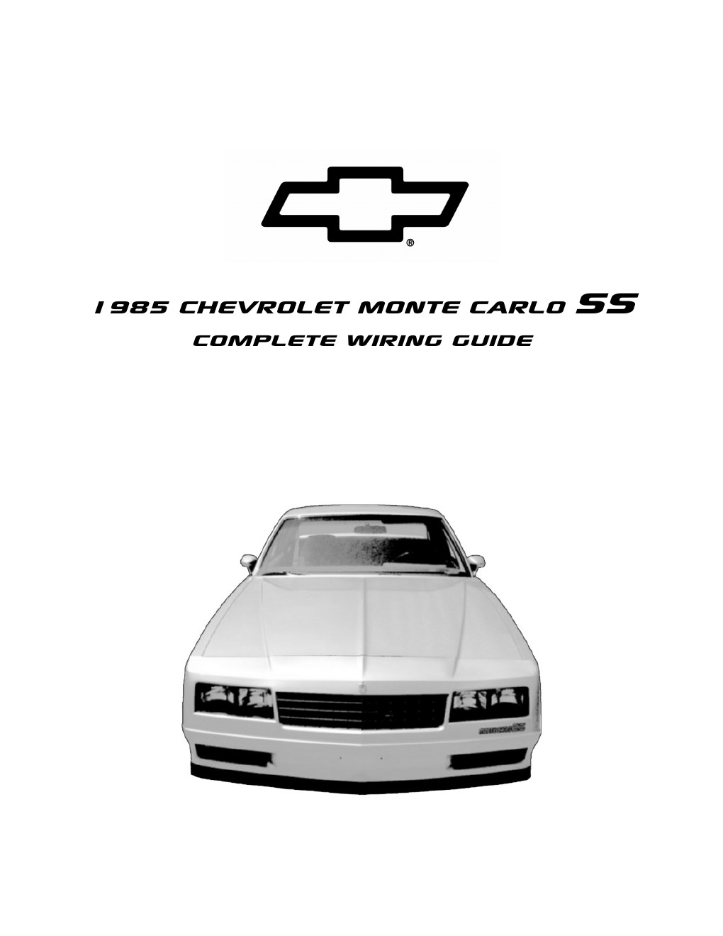 1995 chevrolet monte carlo ss complete wiring diagram part 1 sunday 15