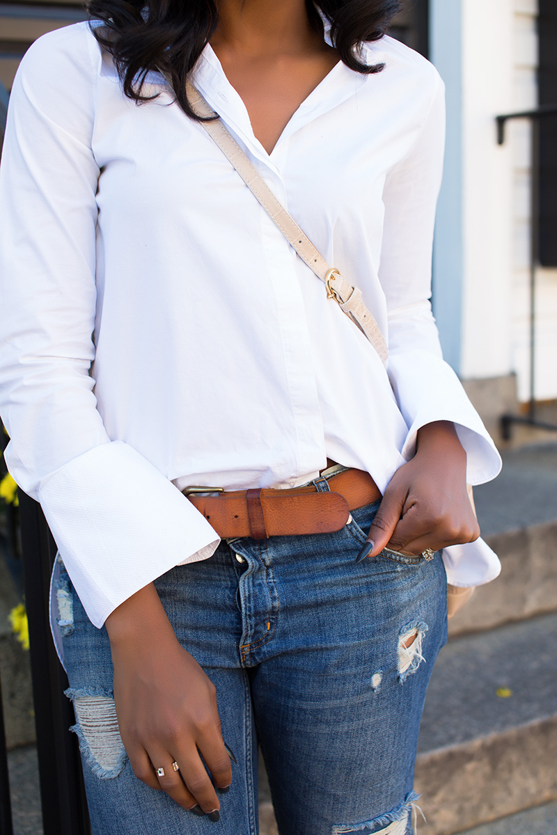 casual look, boyfriend jeans, Etienne Aigner bag
