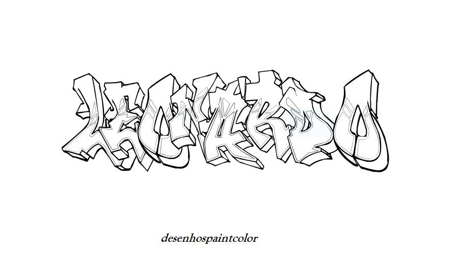 graffiti coloring pages leo - photo#7