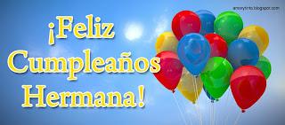 Feliz Cumpleaños Hermana!