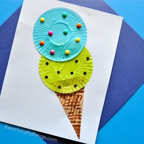 Icecream Cone Cupcake Wallpapers Mobile Pics: Cupcake Liner Ice Cream Cone Kids Craft