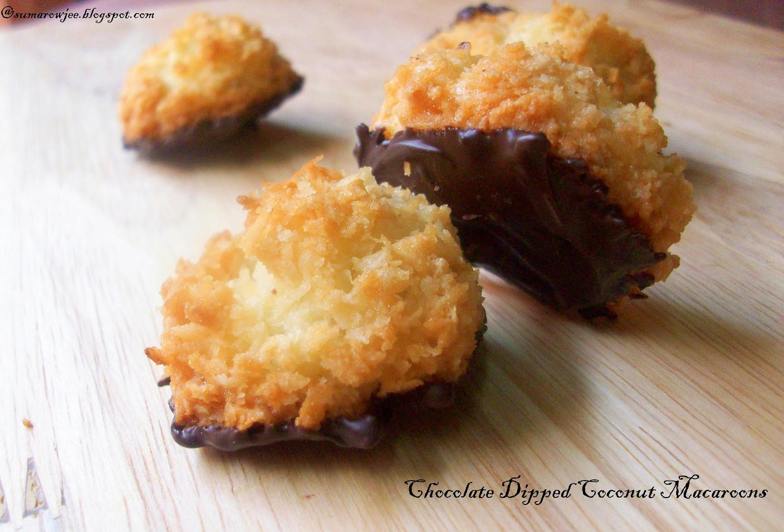 Cakes And More!: Chocolate Dipped Coconut Macaroons