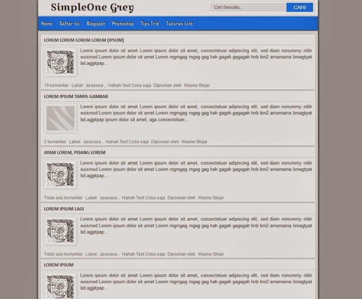 SimpleOne Grey