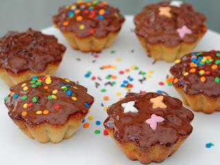 Cupcakes aux pommes caramélisées et au chocolat