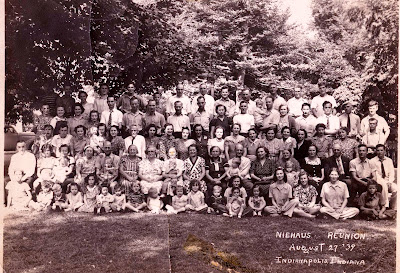 Members of the Niehaus Family gathered in 1939 at Garfield Park, Indianapolis.