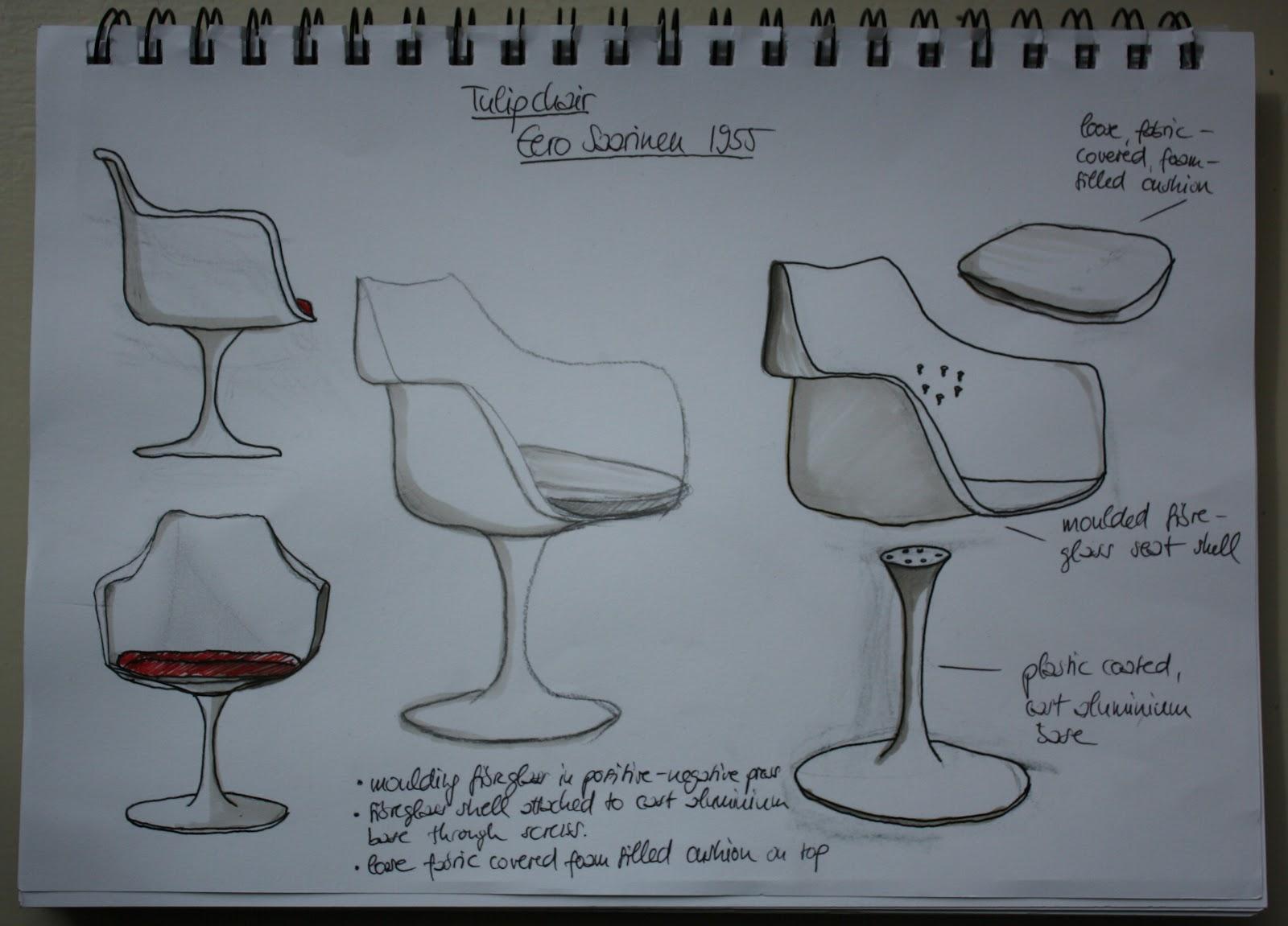 Furniture Design S112 Elena Conrad Sketch Tulip chair