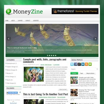 MoneyZine blog template. download 3 column blogger template style. magazine template blogspot