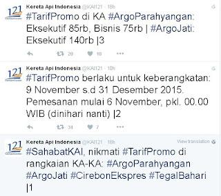 Asik Ada Promo Tiket Kereta Api November Desember