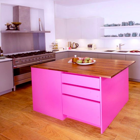 Contrasing Painted Kitchen
