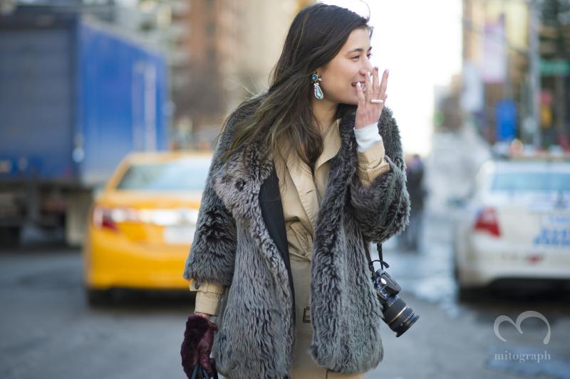 Marie Pascal at New York Fashion Week NYFW タレントのマリエさんをNYのファッションウィークで撮影した一枚。