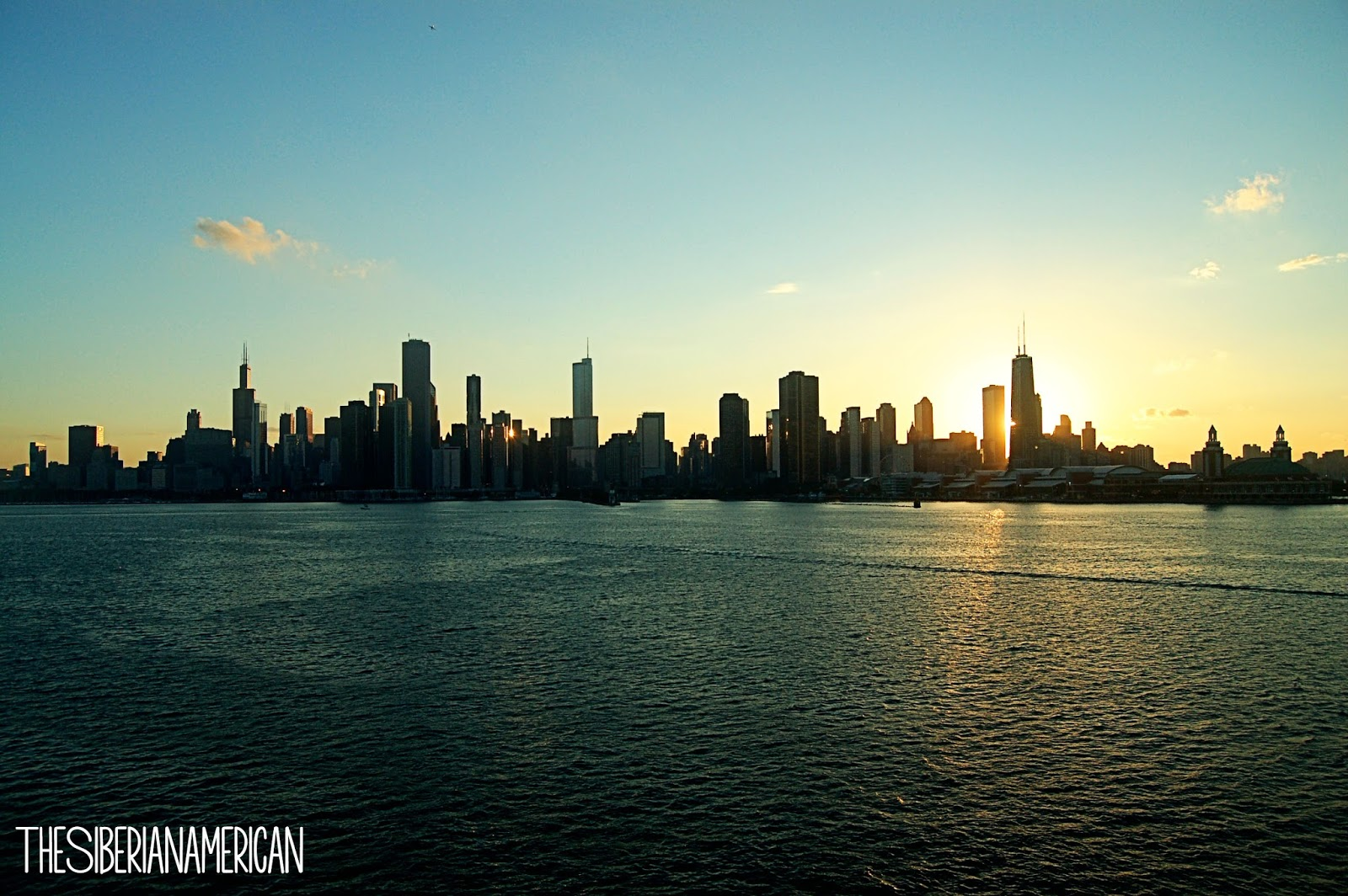 The Sun Set Over Beautiful Chicago Skyline Now Im Trying To Convince Chris Do A Fireworks Cruise During Navy Pier Summer