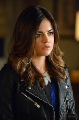 "Aria's Zara Leather Jacket with zips Pretty Little Liars Season 3, Episode 17: ""Out of the Frying Pan, Into the Inferno"""