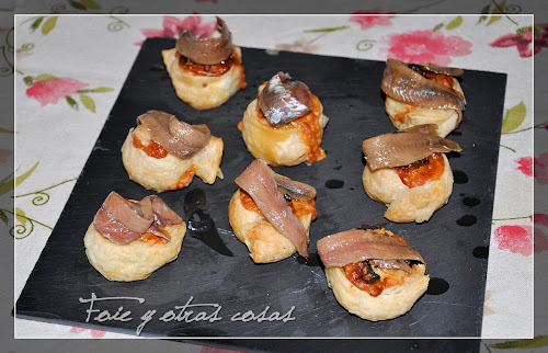 Foto de las delicias de tomate, queso y anchoa