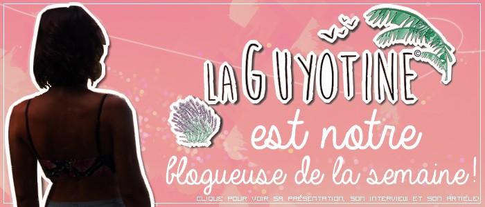 http://grainesdeblogueuses.blogspot.fr/p/blogueuse-de-la-semaine-7-la-guyotine.html