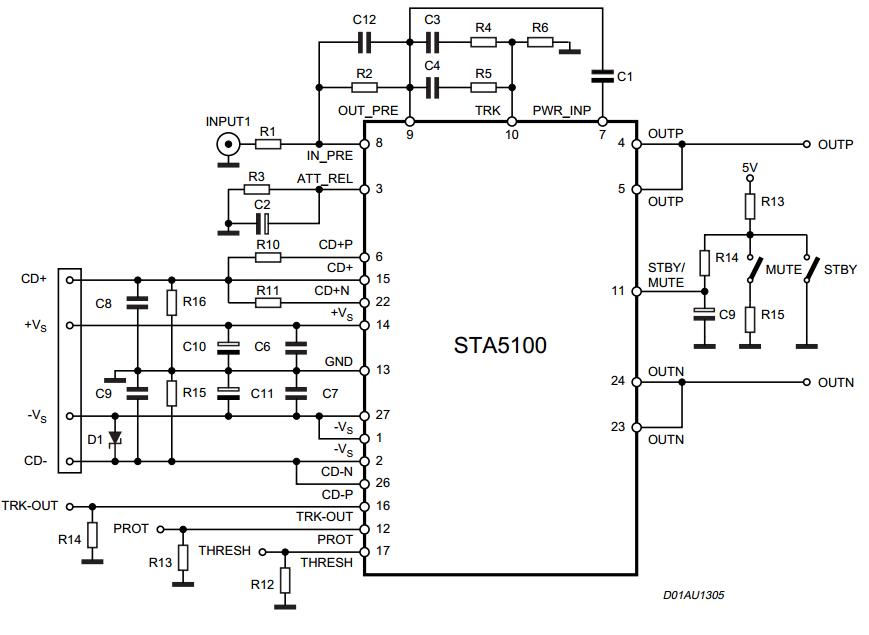 23 w mono power amplifier schematic