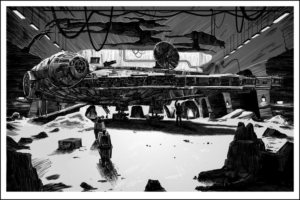 "Star Wars ""What a Piece of Junk"" Metallic Variant Screen Print by Tim Doyle"