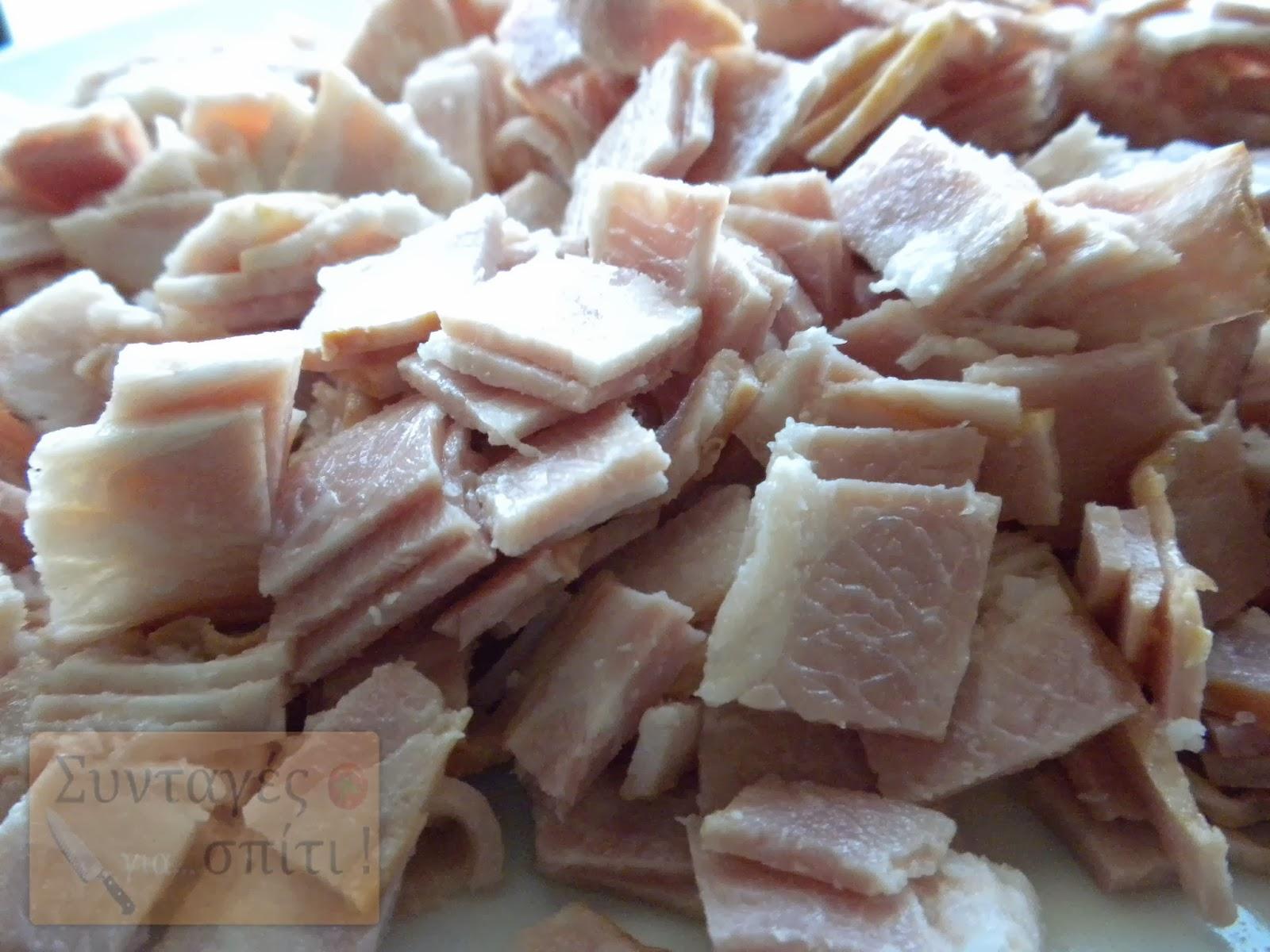 Σουφλέ ζυμαρικών με κίτρινα τυριά - Το μπείκον