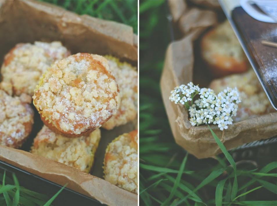 Muffinki gruszkowe z kruszonką