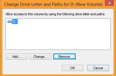 how to remove partition on external hard drive windows 8