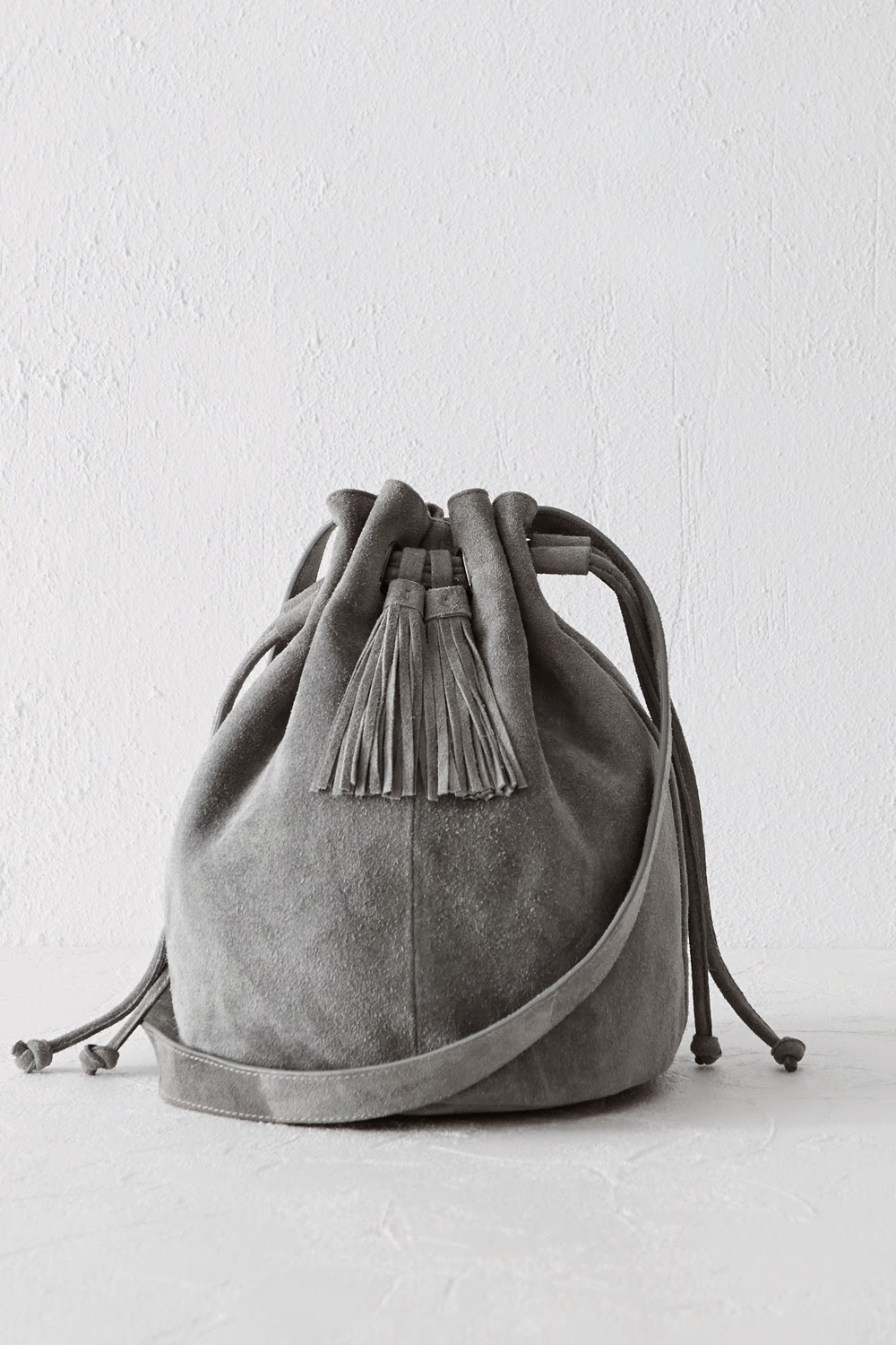 grey suede bag, warehouse suede bag,